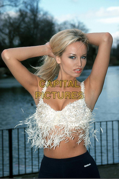 ADRIANA KAREMBU.Ref: 9389.wonderbra model, half length, half-length, posing.*RAW SCAN - photo will be adjusted for publication*.www.capitalpictures.com.sales@capitalpictures.com.© Capital Pictures