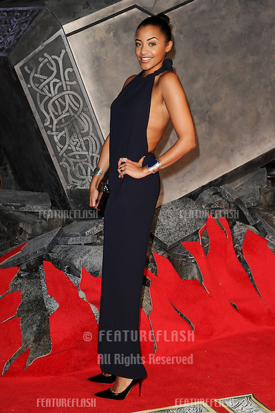 """Amal Fashanu arrives for the world premiere of """"Thor: The Dark World"""" at the Odeon Leicester Square, London. 22/10/2013 Picture by: Steve Vas / Featureflash"""