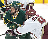 Dean Strong, Nathan Gerbe - The Boston College Eagles completed a shutout sweep of the University of Vermont Catamounts on Saturday, January 21, 2006 by defeating Vermont 3-0 at Conte Forum in Chestnut Hill, MA.