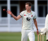 Matt Hunn prepares to bowl for Kent during the friendly game between Kent CCC and Surrey at the St Lawrence Ground, Canterbury, on Thursday Apr 5, 2018
