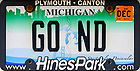 "June 1, 2019; Michigan license plate ""GO ND""  (Photo by Matt Cashore/University of Notre Dame)"