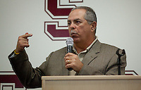 STANFORD, CA - February 3, 2011: Sam Piraro, head coach of San Jose State's baseball team during the Bay Area Media Day at Kissick Auditorium on Stanford's campus.