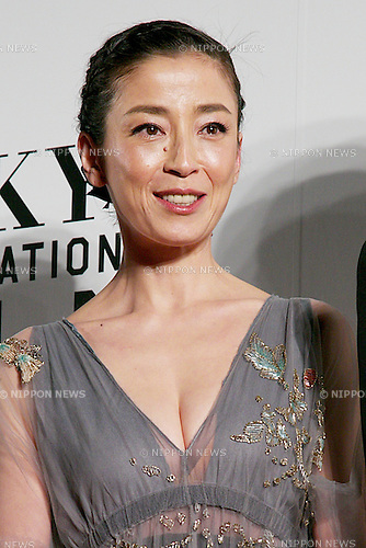 "Rie Miyazawa, Oct 23 2014 : Tokyo, Japan: Actress of the movie ""Pale Moon"" Rie Miyazawa poses for the cameras at the 27th Tokyo International Film Festival, Opening Event Red Carpet at Roppongi Hills Arena in Tokyo, Japan, October 23, 2014.  The Film Festival will run through until Friday 31. (Photo by Rodrigo Reyes Marin/AFLO)"