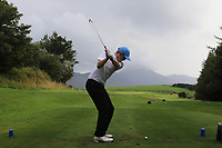 Robert Jacob (Enniscrone) on the 14th tee during the Final of the Junior Cup in the AIG Cups & Shields Connacht Finals 2019 in Westport Golf Club, Westport, Co. Mayo on Thursday 8th August 2019.<br /> <br /> Picture:  Thos Caffrey / www.golffile.ie<br /> <br /> All photos usage must carry mandatory copyright credit (© Golffile | Thos Caffrey)
