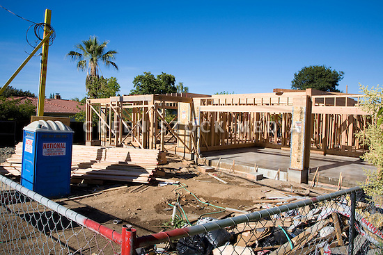 Large two story wooden single family house under for New construction single story homes