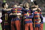 FC Barcelona's players celebrate goal during La Liga match. March 3,2016. (ALTERPHOTOS/Acero)