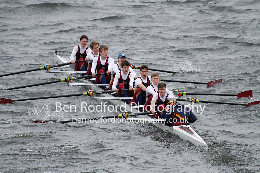 Crew: 18  Norwich Sch  Event: School 1st eights<br /> <br /> Schools' Head of the River 2017<br /> <br /> To purchase this photo, or to see pricing information for Prints and Downloads, click the blue 'Add to Cart' button at the top-right of the page.