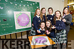 Presentation Secondary School Tralee, Students Launch their Butterfly Bank as part of the AIB Build A Bank competition. Pictured Rebecca Poultney, Michelle Doody, Jennifer Hanafin, Sive Kilgallen, Ciara Boyd, Cara Segal and Sarah Leahy, AIB student office
