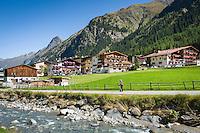 Austria, Tyrol, Pitztal Valley, Plangeross at river Pitze | Oesterreich, Tirol, Pitztal, Plangeross im Pitztal am Pitzbach (Pitze)
