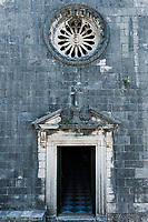 St Nikola church entrance, Kotor, Montenegro.