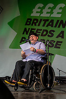 Se&aacute;n McGovern (Disabled Unite activist).<br />
