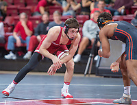 Stanford, California - Stanford Wrestling defeats Oregon State 21-15 at Maples Pavilion in Stanford, California.