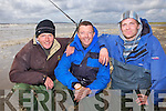 Fishermen Aidan O'Sullivan(Spa), Martin McGowan(Ardfert) and James O'Shea(Spa)who took part in a special fishing competition last Saturday as part Ballybunnion's first Sea Food Festival.