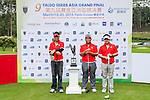 Group 20 poses for a portrait during the 9th Faldo Series Asia Grand Final 2014 golf tournament on March 18, 2015 at Mission Hills Golf Club in Shenzhen, China. Photo by Xaume Olleros / Power Sport Images