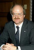 Minister Richard French , November 1985<br /> ,file photo