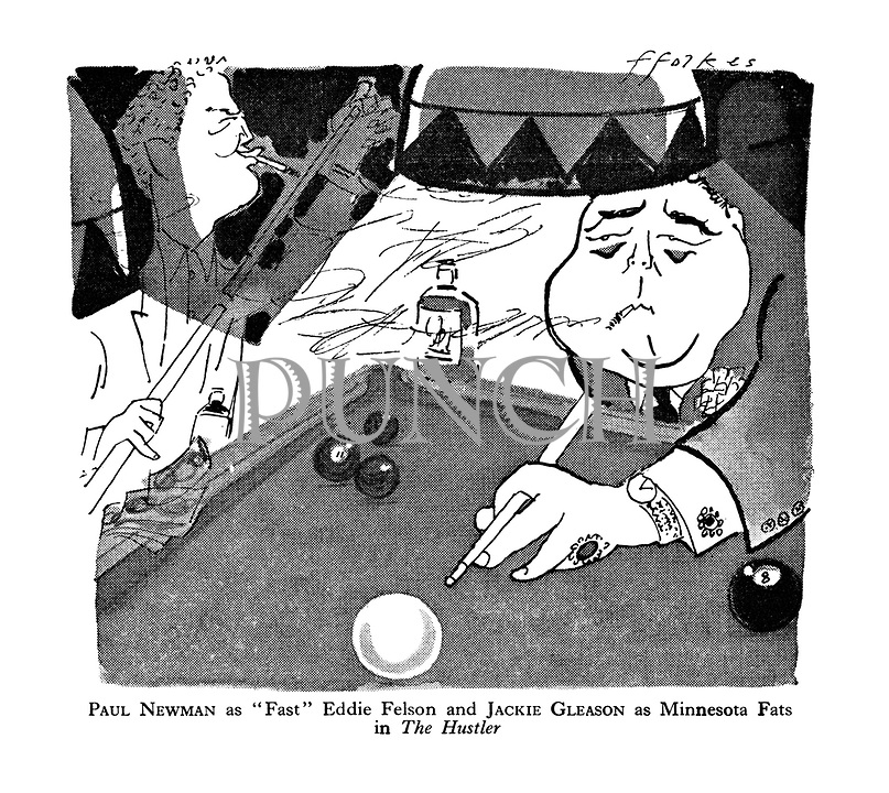 """Paul Newman as """"Fast"""" Eddie Felson and Jackie Gleason as Minnesota Fats in The Hustler"""