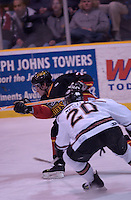 13 March 2004:..Johnstown Chiefs defeated the Wheeling Nailers 6-2 in ECHL action at the Cambria County War Memorial Arena in Johnstown, PA...