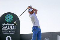 Benjamin Hebert (FRA) on the 9th tee during the 1st round of  the Saudi International powered by Softbank Investment Advisers, Royal Greens G&CC, King Abdullah Economic City,  Saudi Arabia. 30/01/2020<br /> Picture: Golffile | Fran Caffrey<br /> <br /> <br /> All photo usage must carry mandatory copyright credit (© Golffile | Fran Caffrey)