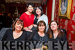Celebrating women's Christmas at Cassidy's on Saturday were Marie O'Shea, Michelle Murphy, Ann O'Sullivan Back l-r Katie O'Riely, Jacinta Powell
