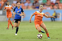 Houston, TX - Sunday August 13, 2017:  Camille Levin during a regular season National Women's Soccer League (NWSL) match between the Houston Dash and FC Kansas City at BBVA Compass Stadium.
