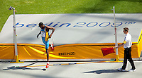 19 AUG 2009 - BERLIN, GER - Trevor Barry (BAH) - High Jump Qualifying - World Athletics Championships .(PHOTO (C) NIGEL FARROW)