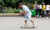 SAO PAULO, SP, 21, JANEIRO 2012 - CLIMA TEMPO PQ. IBIRAPUERA - Movimento de pessoas no Parque do Ibirapuera na tarde deste sabado no Parque do Ibirapuera na região sul da capital paulista. (FOTO: VANESSA CARVALHO - NEWS FREE).