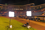 28 February 2016: Ed Wolfstein's portable speed lights and diffusers are checked before the sun rises at the Washington Nationals Spring Training Photo-Day at Space Coast Stadium in Viera, Florida. Mandatory Credit: Ed Wolfstein Photo *** RAW (NEF) Image File Available ***