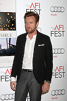 """LOS ANGELES - NOV 4:  Ewan McGregor arrives at the AFI Film Festival 2012  """"The Impossible"""" Screening at Los Angeles on November 4, 2012 in Graumans Chinese Theater, CA"""