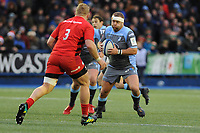 Scott Andrews of Cardiff Blues in action during the Heineken Champions Cup match between Cardiff Blues and Saracens at Cardiff Arms Park in Cardiff, Wales. Saturday 15 December 2018