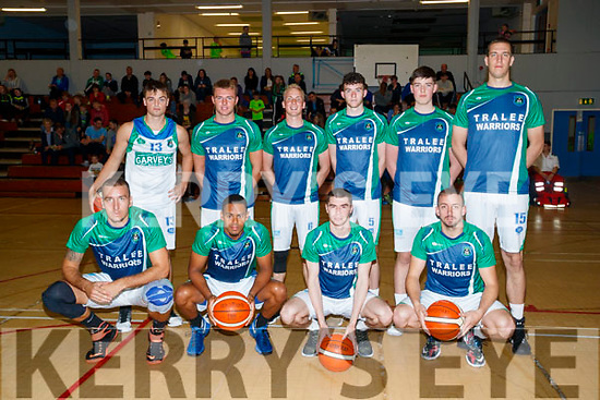 Tralee Warriors Team front l-r: Goran Pantovic, Trae Pemberton, Gary Murphy and Cathal O'Sullivan. Back l-r: Patrick McCarthy, Mike O'Donnell, Darren O'Sullivan Paul McMahon, Daire Kennelly and Dusan Bogdanovic.