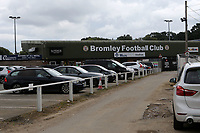 General view of the Main Entrance to Bromley FC during Bromley vs Chesterfield, Vanarama National League Football at the H2T Group Stadium on 7th September 2019