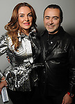 Carmina Zambrano and Rafael Chavez at the Light as Air Fashion show with leather fashions by Jose Sanchez and performances by Vault with Choreography by Amy Eli at Vault Houston Saturday Jan.10, 2015.(Dave Rossman For the Chronicle)