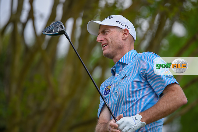Jim Furyk (USA) watches his tee shot on 3 during day 2 of the WGC Dell Match Play, at the Austin Country Club, Austin, Texas, USA. 3/28/2019.<br /> Picture: Golffile   Ken Murray<br /> <br /> <br /> All photo usage must carry mandatory copyright credit (© Golffile   Ken Murray)