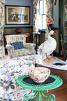 floral lounge armchair