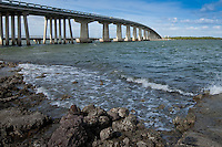 Judge Jolley Bridge over Marco River onto Marco Island. Largest barrier island in Ten Thousand Island area.