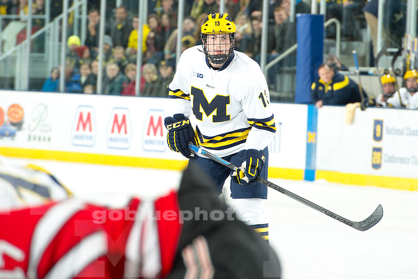 The University of Michigan men's hockey team; 3-2 victory over Rensselaer Polytechnic Institute at Yost Ice Arena in Ann Arbor on November 28, 2014.