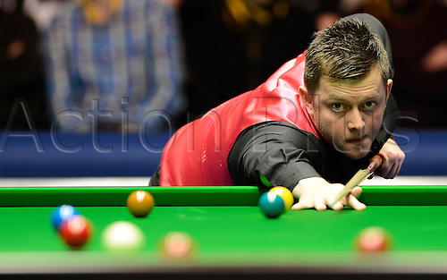17.01.2013 London, England.  Mark Allen in action against Neil Robertson during the Masters Snooker from Alexandra Palace...
