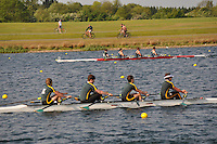Wallingford Rowing Club Regatta 2011. Dorney..(J18A.4x-).Windsor Boys School - A (390).Maidenhead (394)