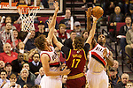 01/15/13--Portland Trail Blazers power forward Thomas Robinson (41) blocks Cleveland Cavaliers center Anderson Varejao (17) shot in the first half at Moda Center.<br />