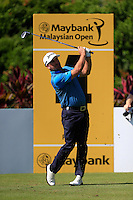 Greame McDowell (NIR) on the 4th tee during Round 3 of the Maybank Malaysian Open at the Kuala Lumpur Golf & Country Club on Saturday 7th February 2015.<br /> Picture:  Thos Caffrey / www.golffile.ie