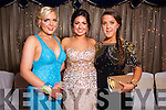 Siobhan Kelly, Ellen Flemming and Laura Murphy at the Castleisland Presentation debs ball at the Earl of Desmond hotel on Saturday night.