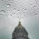 Rain over San Francisco City Hall