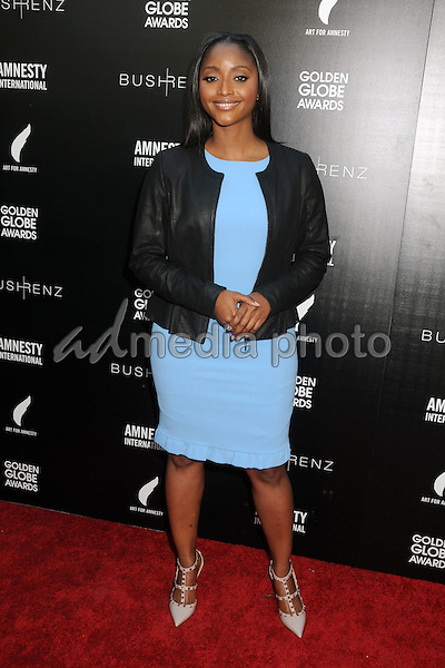 8 January 2016 - West Hollywood, California - Isha Sesay. 1st Annual Art for Amnesty Pre-Golden Globes Brunch held at Chateau Marmont. Photo Credit: Byron Purvis/AdMedia