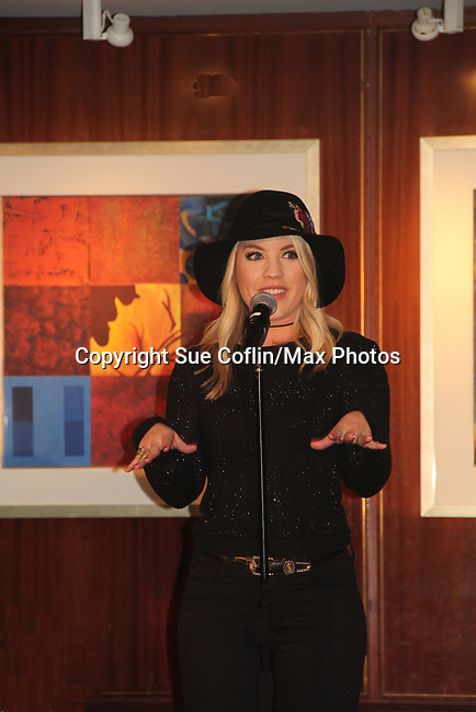 One Life To Live and General Hospital's Kristen Alderson performs - The 31st Annual Jane Elissa Entertainment Extravaganza to benefit Leukemia, Cancer Research and Broadway Cares Equity Fights Aids on November 5, 2018 at the New York Marriott Marquis, New York City, New York.  (Photo by Sue Coflin/Max Photos)
