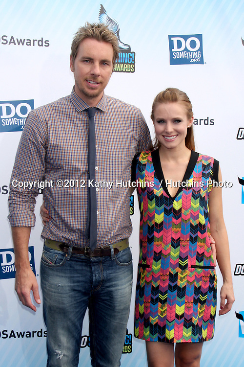Los Angeles - AUG 19:  Dax Shepard, Kristen Bell arrives at the 2012 Do Something Awards at Barker Hanger on August 19, 2012 in Santa Monica, CA