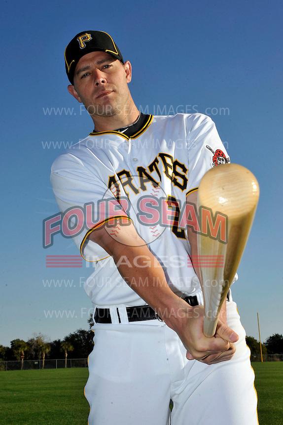 Feb 28, 2010; Bradenton, FL, USA; Pittsburgh Pirates  infielder Bobby Crosby (2) during  photoday at Pirate City. Mandatory Credit: Tomasso De Rosa/ Four Seam Images