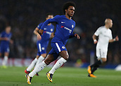 12th September 2017, Stamford Bridge, London, England; UEFA Champions League Group stage, Chelsea versus Qarabag FK; Willian of Chelsea looks on