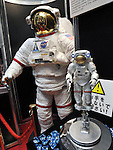 June 16th, 2011, Tokyo, Japan - A 1/10 scale model of the space suit for EVA at the International Space Station is on display at the Bandai booth as the International Tokyo Toy Show 2011 opens in Tokyo Thursday, June 16, 2011. More than 130 domestic and foreign toy manufacturers and companies featured about 35,000 toys in the four-day show, the largest of its kind in Japan.  The domestic toy market grew 3.5 percent in the business year ended in March from a year earlier, the first increase in three years, according to the Japan Toy Association. (Photo by Natsuki Sakai/AFLO) [3615] -mis-