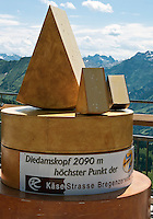 Austria, Vorarlberg, Schoppernau: cheese advertising on top of Diedamskopf mountain