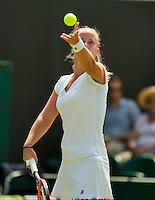 England, London, June 30, 2015, Tennis, Wimbledon, Richel Hogenkamp (NED)<br /> Photo: Tennisimages/Henk Koster